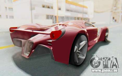 Ferrari F80 Concept für GTA San Andreas zurück linke Ansicht