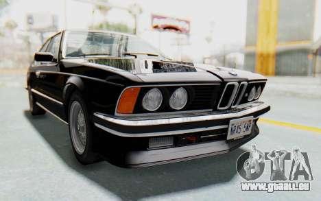 BMW M635 CSi (E24) 1984 IVF PJ3 pour GTA San Andreas vue de droite