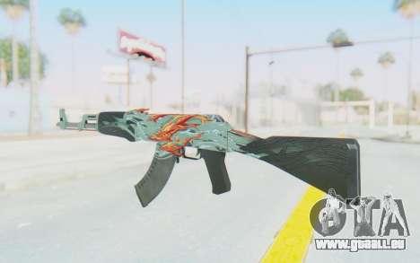 CS:GO - AK-47 Aquamarine Revenge für GTA San Andreas zweiten Screenshot