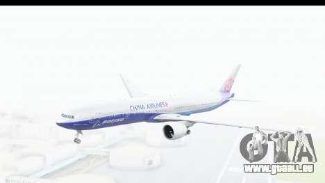 Boeing 777-300ER China Airlines Dreamliner pour GTA San Andreas sur la vue arrière gauche