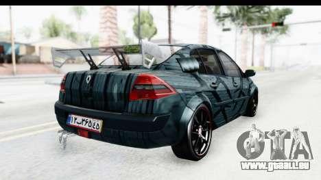 Renault Megane Sport pour GTA San Andreas laissé vue
