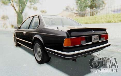 BMW M635 CSi (E24) 1984 IVF PJ3 pour GTA San Andreas laissé vue