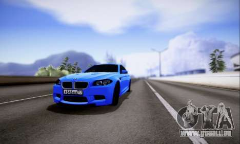 BMW M5 F10 G-Power für GTA San Andreas linke Ansicht