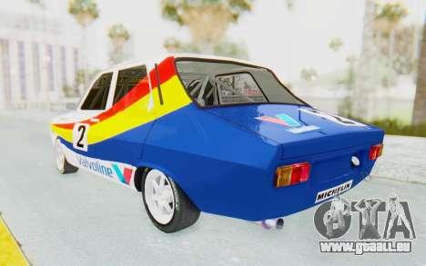 Dacia 1300 Rally pour GTA San Andreas sur la vue arrière gauche