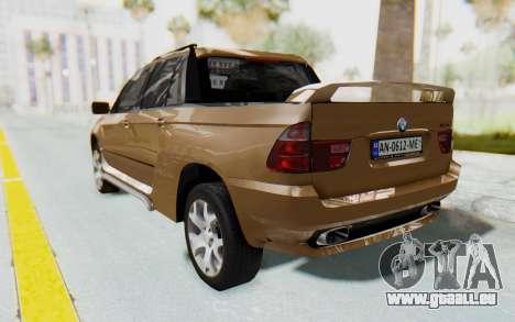 BMW X5 Pickup für GTA San Andreas linke Ansicht