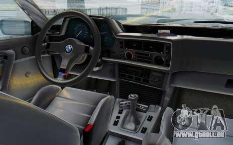 BMW M635 CSi (E24) 1984 IVF PJ3 pour GTA San Andreas vue intérieure