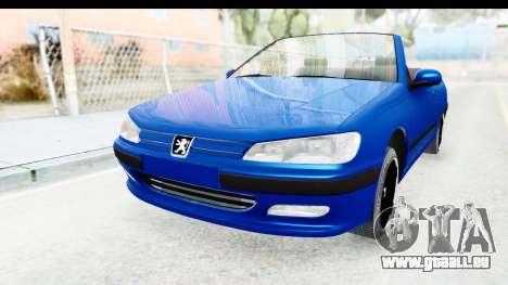 Peugeot 406 Cabrio Beta 0.8.3 pour GTA San Andreas sur la vue arrière gauche