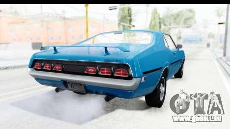 Mercury Cyclone Spoiler 1970 pour GTA San Andreas laissé vue