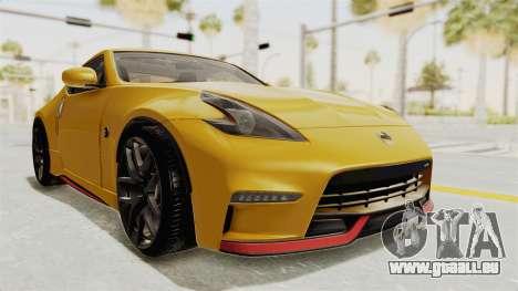 Nissan 370Z Nismo Z34 pour GTA San Andreas vue de droite