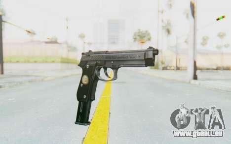 Tariq Iraqi Pistol Back v1 Silver Long Ammo für GTA San Andreas
