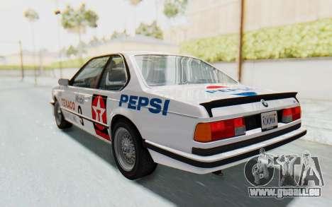 BMW M635 CSi (E24) 1984 IVF PJ2 pour GTA San Andreas moteur