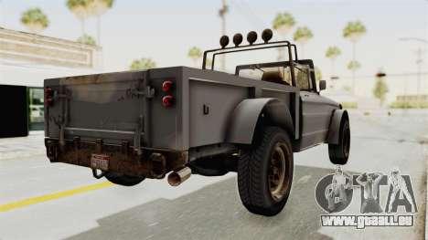 GTA 5 Canis Bodhi Trevor IVF pour GTA San Andreas laissé vue