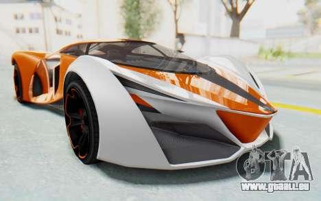 GTA 5 Grotti Prototipo v1 IVF für GTA San Andreas zurück linke Ansicht