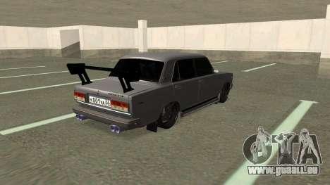 VAZ 2107 Dérive pour GTA San Andreas sur la vue arrière gauche