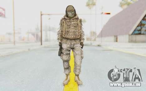 COD MW2 Ghost Sniper Desert Camo pour GTA San Andreas deuxième écran