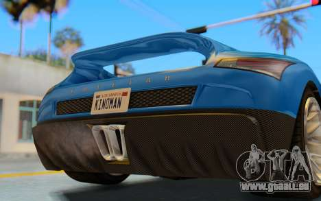 GTA 5 Grotti Cheetah SA Lights pour GTA San Andreas vue intérieure