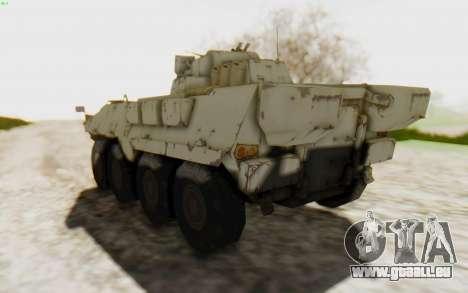 MGSV Phantom Pain STOUT IFV APC Tank v2 für GTA San Andreas rechten Ansicht