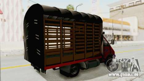 GAZelle 33021 Stylo Colombia pour GTA San Andreas sur la vue arrière gauche