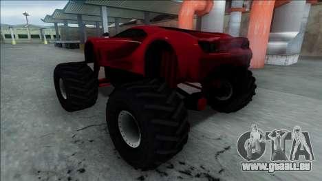 GTA V Vapid FMJ Monster Truck pour GTA San Andreas vue arrière