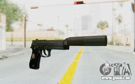 Tariq Iraqi Pistol Back v1 Black Silenced pour GTA San Andreas