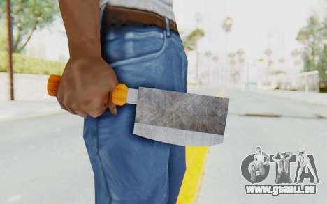 Butcher Knife pour GTA San Andreas troisième écran