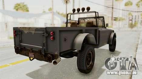 GTA 5 Canis Bodhi Trevor pour GTA San Andreas sur la vue arrière gauche