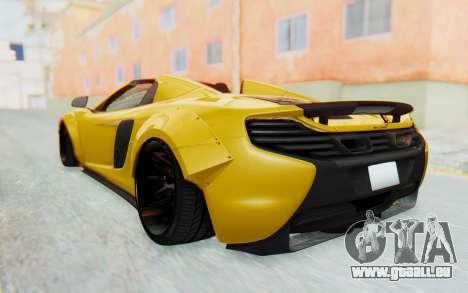 McLaren 650S Spyder ZenWorks pour GTA San Andreas vue de droite