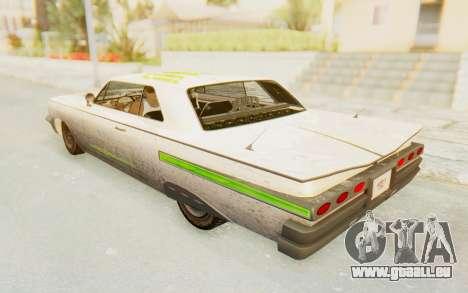 GTA 5 Declasse Voodoo PJ SA Lights pour GTA San Andreas vue de dessus