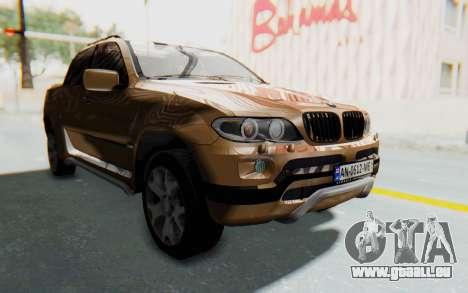 BMW X5 Pickup für GTA San Andreas rechten Ansicht