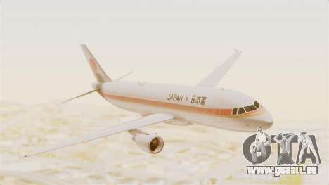 Airbus A320-200 Japanese Air Force One für GTA San Andreas zurück linke Ansicht