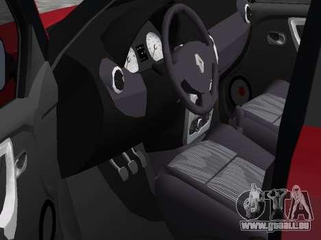 Renault Logan pour GTA Vice City sur la vue arrière gauche