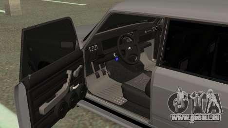 VAZ 2107 Dérive pour GTA San Andreas vue arrière