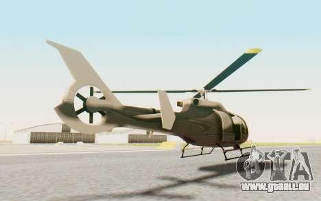 GTA 5 Maibatsu Frogger Civilian für GTA San Andreas zurück linke Ansicht