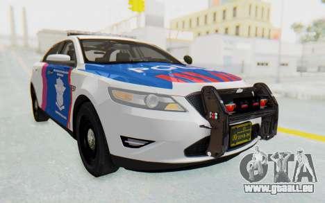 Ford Taurus Indonesian Traffic Police pour GTA San Andreas sur la vue arrière gauche