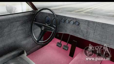 Dodge Charger Daytona F&F pour GTA San Andreas vue intérieure
