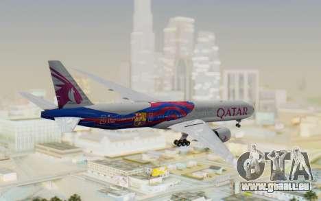 Boeing 777-300ER Qatar Airways v2 pour GTA San Andreas vue de droite