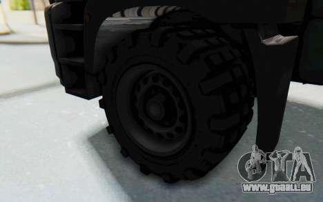 GTA 5 HVY Brickade IVF für GTA San Andreas Rückansicht
