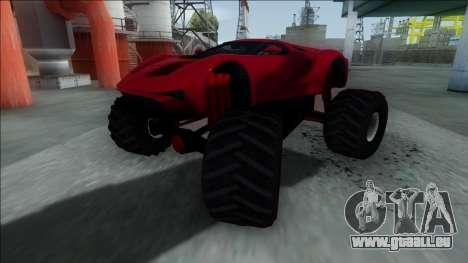 GTA V Vapid FMJ Monster Truck für GTA San Andreas