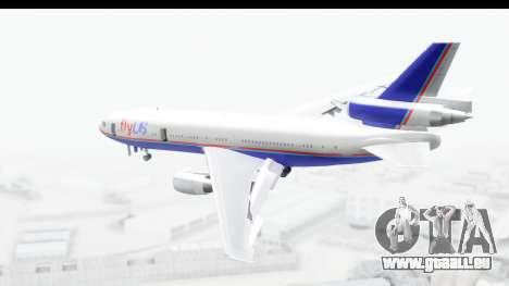 DC-10 Fly Us für GTA San Andreas linke Ansicht