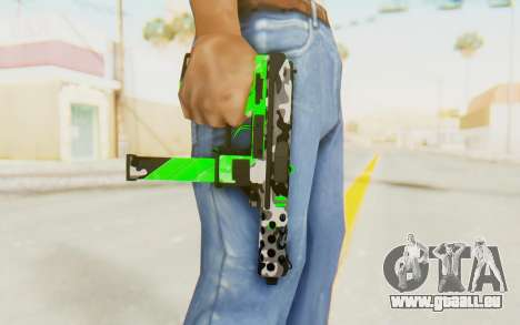 Tec-9 Neural Green für GTA San Andreas dritten Screenshot