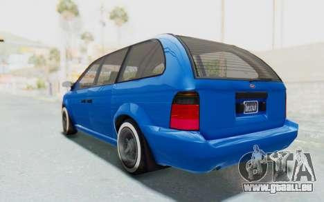 GTA 5 Vapid Minivan Custom für GTA San Andreas linke Ansicht
