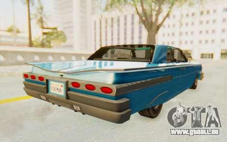 GTA 5 Declasse Voodoo PJ für GTA San Andreas zurück linke Ansicht
