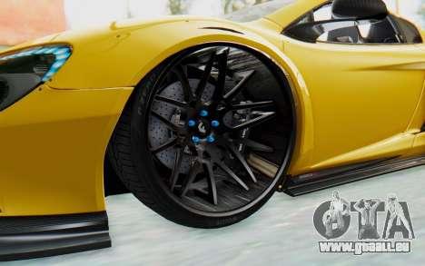 McLaren 650S Spyder ZenWorks pour GTA San Andreas vue arrière