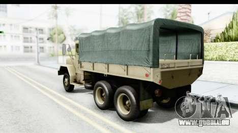 AM General M35A2 Sand pour GTA San Andreas laissé vue