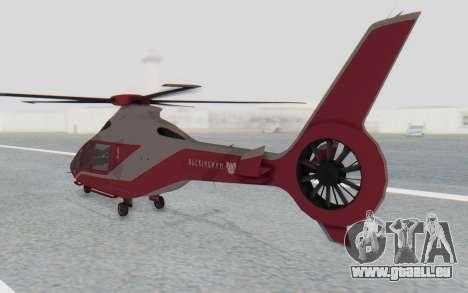 GTA 5 Buckingham Volatus v1 für GTA San Andreas zurück linke Ansicht