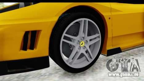 Ferrari F430 SVR für GTA San Andreas Rückansicht