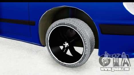 Peugeot 406 Cabrio Beta 0.8.3 pour GTA San Andreas vue arrière