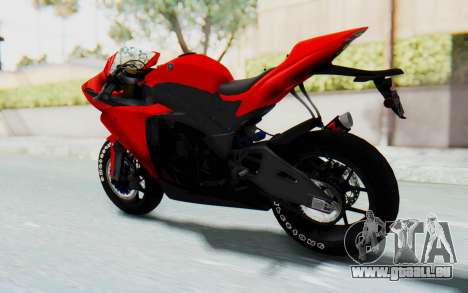 Yamaha YZF-R1 für GTA San Andreas zurück linke Ansicht