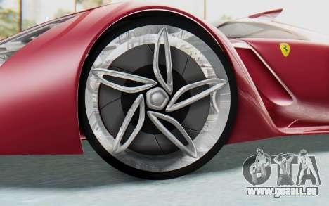 Ferrari F80 Concept pour GTA San Andreas vue intérieure