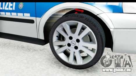 Opel Astra G Variant Polizei Hessen pour GTA San Andreas vue arrière